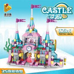 Panlosbrick 633012 (NOT Lego Disney Princess Castle ) Xếp hình Lâu Đài Vui Vẻ 566 khối