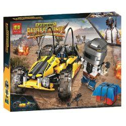 Bela 11081 (NOT Lego PUBG Battlegrounds Battlegrounes ) Xếp hình Xe Địa Hình Buggy Vàng 561 khối