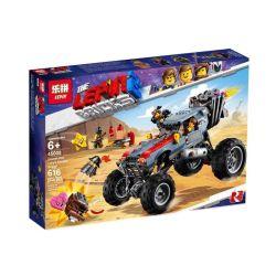 LARI 11248 LEPIN 45008 Xếp hình kiểu THE LEGO MOVIE 2 THE SECOND PART Emmet And Lucy's Escape Buggy! Lego Movie 2 Emite And Lucy Escape Off-road Vehicle Xe Tẩu Thoát Của Emmet & Lucy 550 khối
