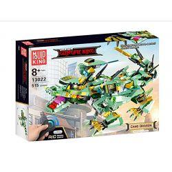 MOULDKING 13022 Xếp hình kiểu THE LEGO NINJAGO MOVIE Dragon Gongfu King Cang Dragon Kingdom Of Kingdom Kung Fu Machine Rồng Xanh điều Khiển Từ Xa 515 khối điều khiển từ xa