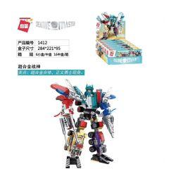 Enlighten 1412 (NOT Lego Transformers Creative Master ) Xếp hình Người Máy Biến Hình 6 Trong 1 gồm 6 hộp nhỏ lắp được 7 mẫu 498 khối