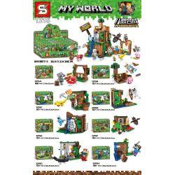 Sheng Yuan 1215 (NOT Lego Minecraft My World ) Xếp hình Thế Giới Sinh Tồn gồm 8 hộp nhỏ 738 khối
