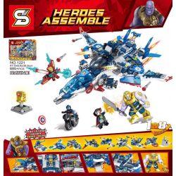 SHENG YUAN SY 1221 Xếp hình kiểu Lego SUPER HEROES Heroes Assemble Quen-style Fighter Can Be Removed From 8 Small Fighters Biệt Đội Siêu Anh Hùng 685 khối