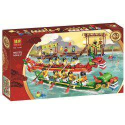 Bela 11141 Sheng Yuan 1262 SY1262 Xipoo XP93601 (NOT Lego Ideas 80103 Dragon Boat Race ) Xếp hình Đua Thuyền Rồng 660 khối