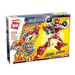 Enlighten 3301 Qman 3301 Xếp hình kiểu Lego TRANSFORMERS Blast Ranger Speed Blazer Ramadama Fast Pioneer Robot Biến Hình Thành Xe đua lắp được 2 mẫu 485 khối