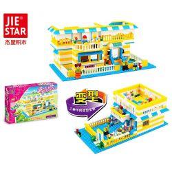 JIE STAR 20302 Xếp hình kiểu Lego CLASSIC Health Living House Ngôi nhà nghỉ dưỡng 484 khối