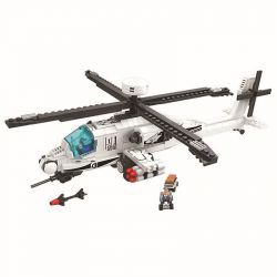 Winner 8028 Xếp hình kiểu Lego Thunder Air Force Apac Trực Thăng Chiến Đấu 483 khối