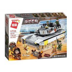 Enlighten 1721 Qman 1721 Xếp hình kiểu Lego TACTICAL ESPIONAGE ACTION Battlefield Series Overlord Tank Dispatched Xe Tăng Chiến Đấu 482 khối