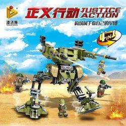 Panlosbrick 631003 (NOT Lego Military Army Justice Action ) Xếp hình Trận Chiến Sa Mạc lắp được 5 mẫu 481 khối