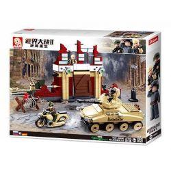Sluban M38-B0696 (NOT Lego Military Army Battle Of Stalingrad ) Xếp hình Tấn Công Căn Cứ Địch 479 khối