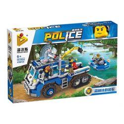 PanlosBrick 681005A Panlos Brick 681005A Xếp hình kiểu Lego Police Series Forest Duty Police Car Xe Kéo Và Ca Nô Tuần Tra 478 khối