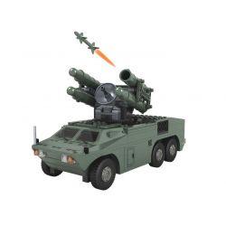 Winner 8010 Xếp hình kiểu Lego TANK BATTLE TankBattle Land War Hongqi No. 7 Air Defense Missile Dàn Tên Lửa Phòng Không 477 khối