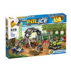 PanlosBrick 681005B Panlos Brick 681005B Xếp hình kiểu Lego Police Stolen Wood Warehouse Truy Bắt Lâm Tặc 476 khối