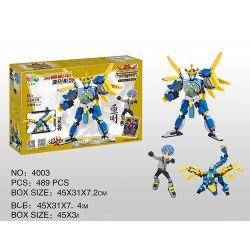 Qizhile 4003 (NOT Lego Creator 3 in 1 Người Máy Rồng Xanh ) Xếp hình 475 khối