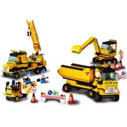 SLUBAN M38-B9700 B9700 9700 M38B9700 38-B9700 Xếp hình kiểu Lego Simulated City Engineering Corps Đội Xe Xây Dựng 474 khối