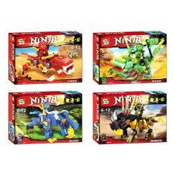 SHENG YUAN SY 711 SY711 SY711A 711A SY711B 711B SY711C 711C SY711D 711D Xếp hình kiểu THE LEGO NINJAGO MOVIE Gods Mount 4 Siêu Thú Ninjago 4 Mẫu gồm 6 hộp nhỏ lắp được 4 mẫu 469 khối