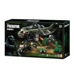 SLUBAN M38-B0719A B0719A 0719A M38B0719A 38-B0719A Xếp hình kiểu Lego ALIEN VS. PREDATOR The Predator Head-shaped Battle, Blood Warrior Bloodseller Helicopter Chiến Đấu Với Kẻ Săn Mồi 468 khối