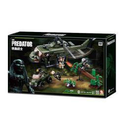 Sluban M38-B0719A (NOT Lego Alien vs. Predator The Predator ) Xếp hình Chiến Đấu Với Kẻ Săn Mồi 468 khối