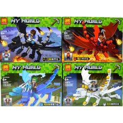 LELE 33074 33074A 33074B 33074C 33074D Xếp hình kiểu Lego MINECRAFT MY WORLD Han Tang Dragon 4 Rồng Nguyên Tố 4 Mẫu gồm 4 hộp nhỏ lắp được 4 mẫu 465 khối