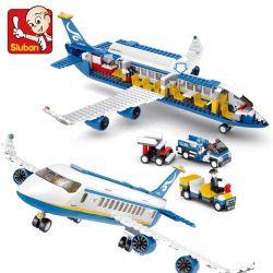 SLUBAN M38-B0366 B0366 0366 M38B0366 38-B0366 Xếp hình kiểu Lego CITY Aviation Aerospace World Airbus Máy Bay Chở Khách 463 khối