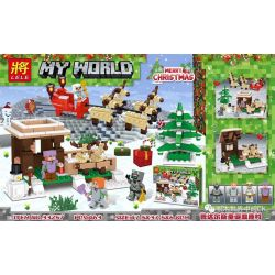 LELE 33257 Xếp hình kiểu Lego MINECRAFT My World Merry Christmas My World Padals Christmas Ellant Village Giáng Sinh 463 khối