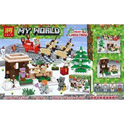 Lele 33257 (NOT Lego Minecraft My World:merry Christmas ) Xếp hình Giáng Sinh 463 khối