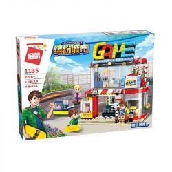 Enlighten 1135 Qman 1135 Xếp hình kiểu Lego ColorfulCity Colorful City Cool Play Hall Tiệm Trò Chơi 461 khối