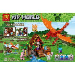 Lele 33223 (NOT Lego Minecraft My World ) Xếp hình Chiến Đấu Với Rồng Lửa 461 khối