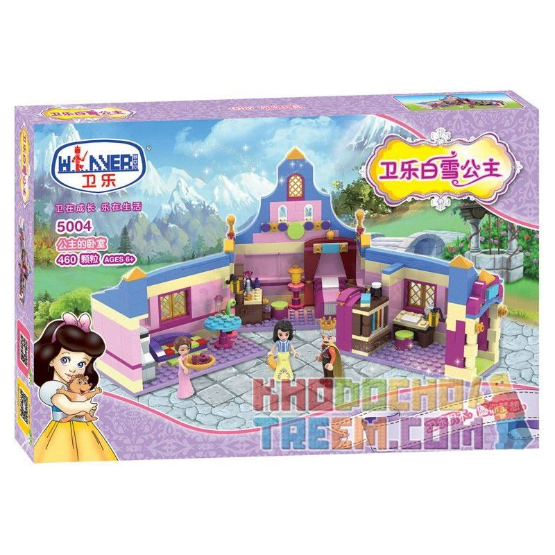 Winner 5004 Xếp hình kiểu Lego SNOW WHITE PRINCESS Wei Le Snow Princess Princess Bedroom Căn Phòng Của Công Chúa 460 khối