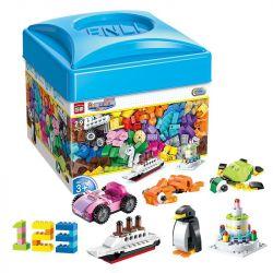 Enlighten 2901 Qman 2901 Xếp hình kiểu Lego CLASSIC Build N Learn Box Leology Series Fun Box Kích Thích Trí Thông Minh 460 khối
