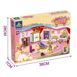 Kazi KY98710 98710 Xếp hình kiểu Lego GOLDEN PRINCESS Gold Princess Indoor Scene Căn Phòng Của Công Chúa 458 khối