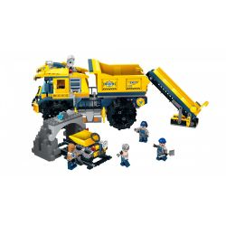 Enlighten 2411 Qman 2411 KEEPPLEY 2411 Xếp hình kiểu Lego KYANITE SQUAD Kyanite Squad Dumptruck Monster Spar Team Titan Engineering Vehicle Xe Tải Khai Thác Mỏ Đá Quý 458 khối