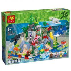 LELE 33248 Xếp hình kiểu Lego MINECRAFT My World Adventure Series Underwater World Lost Palace Vùng Đất Dưới Đáy Biển 458 khối