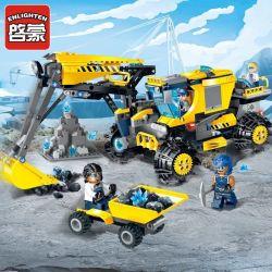 Enlighten 2410 Qman 2410 Xếp hình kiểu Lego KYANITE SQUAD Kyanite Squad Excavator Slim Squad Jock Excavator Máy Xúc Khai Thác Mỏ Đá Quý 457 khối