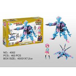 Qizhile 4002 (NOT Lego Transformers Transformation Robot 2In1 ) Xếp hình Người Máy Biến Hình 2 Trong 1 lắp được 2 mẫu 452 khối