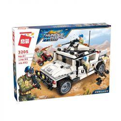 Enlighten 3205 Qman 3205 Xếp hình kiểu Lego ThunderMission Thunder Mission Armed Hummer Counterattack Tấn Công Trên Sa Mạc 452 khối