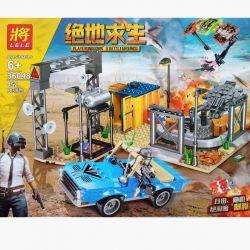 LELE 36048 Xếp hình kiểu Lego PUBG BATTLEGROUNDS Jedi Survival Scenes Trò Chơi Sinh Tồn 452 khối