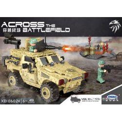 XINGBAO XB-06024 06024 XB06024 Xếp hình kiểu Lego ACROSS THE BATTLEFIELD Across The Battlefield VBL VBL Wheel Armored Car Xe Bọc Thép Tấn Công 451 khối