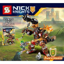 SHENG YUAN SY SY573 Xếp hình kiểu Lego NEXO KNIGHTS Nick Knights Moltor Mech Rocky Magica Trận Chiến Với Quái Vật 450 khối