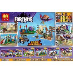 Lele 36062 (NOT Lego Fornite Fortnite Battle ) Xếp hình Trận Chiến Fornite gồm 4 hộp nhỏ 446 khối