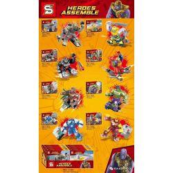 Sheng Yuan 1184 (NOT Lego Super Heroes Heroes Assemble ) Xếp hình Biệt Đội Siêu Anh Hùng 8 Mẫu gồm 8 hộp nhỏ 442 khối