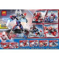 LELE 39143 Xếp hình kiểu Lego ULTRAMAN Space Giant Thunder War 4 Robot Siêu Nhân Điện Quang 4 Trong 1 442 khối