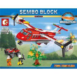 SEMBO 603038 Xếp hình kiểu Lego FIRE RESCURE Fire Frontline Fire Front Line Forest Fire Plane Máy Bay Cứu Hỏa 433 khối