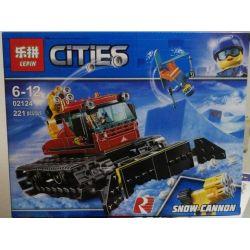 Lepin 02124 Bela 11222 (NOT Lego City 60222 Snow Groomer ) Xếp hình Xe Dọn Tuyết Groomer 197 khối