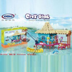 XINGBAO XB-12018 12018 XB12018 Xếp hình kiểu Lego CityGirl Fishing Cottage City Girl Fishing Hut Chòi Câu Cá 427 khối