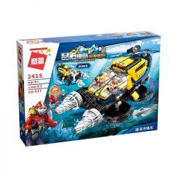 Enlighten 2415 Qman 2415 Xếp hình kiểu Lego KYANITE SQUAD Slim Squad Vortex Tàu Mũi Khoan Thám Hiểm Đại Dương 427 khối