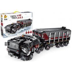 PanlosBrick 628001 Panlos Brick 628001 Xếp hình kiểu Lego THE WANDERING EARTH EarthTruck CN373 Bar Carrier Earth Carrier Xe Tải Lưu Lạc Địa Cầu 2105 khối