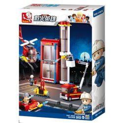 SLUBAN M38-B0628 B0628 0628 M38B0628 38-B0628 Xếp hình kiểu Lego FIRE RESCURE Fire Station Training Center Fire Hero Fire Training Building Trung Tâm Huấn Luyện Cứu Hỏa 425 khối