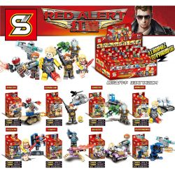 SHENG YUAN SY 1242 1242-1 1242-2 1242-3 1242-4 1242-5 1242-6 1242-7 1242-8 Xếp hình kiểu Lego RED ALERT Red Police Human Treasury Weapon 8 Grizzlies Tanks, Night Eagles Helicopter, Ring Tank, Magnetic