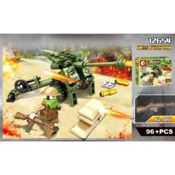 SEMBO 12652 12653 12654 12655 Xếp hình kiểu Lego MILITARY ARMY Front Of The War Chiến Tranh gồm 4 hộp nhỏ 424 khối